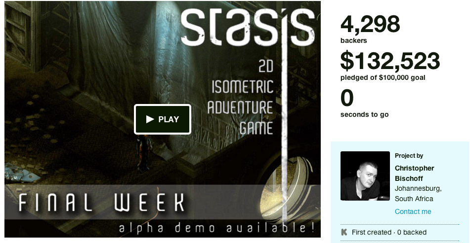 stasis kickstarter
