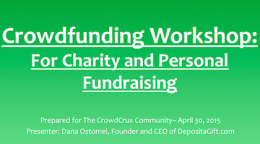 personal fundraising workshop