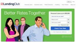 lending club homepage
