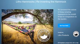 litho hammocks kickstarter homepage